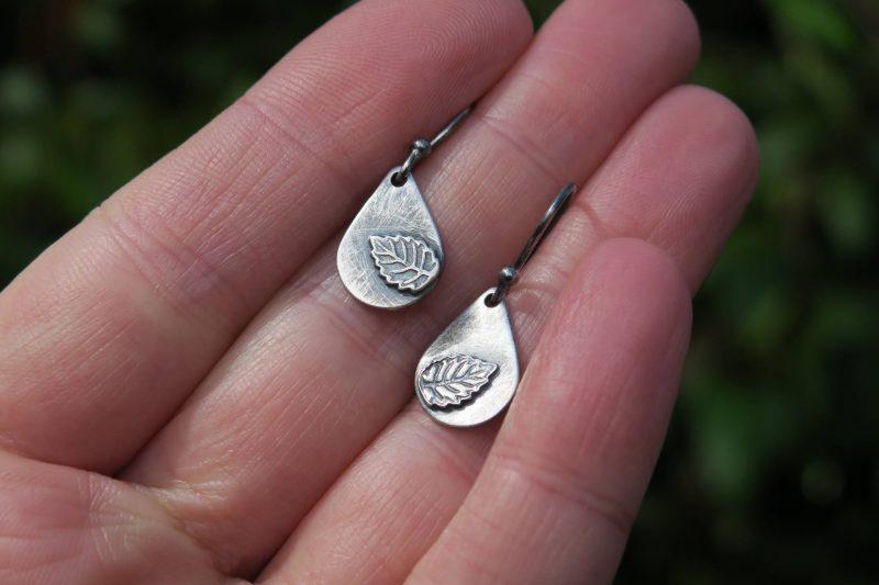Small Silver Teardrop Earrings