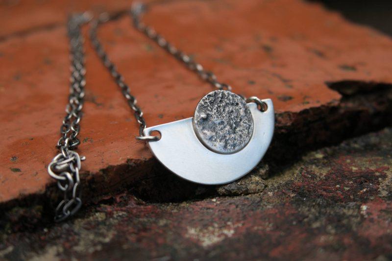 Contemporary moon necklace