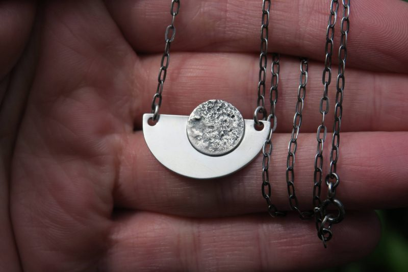 Contemporary full moon necklace